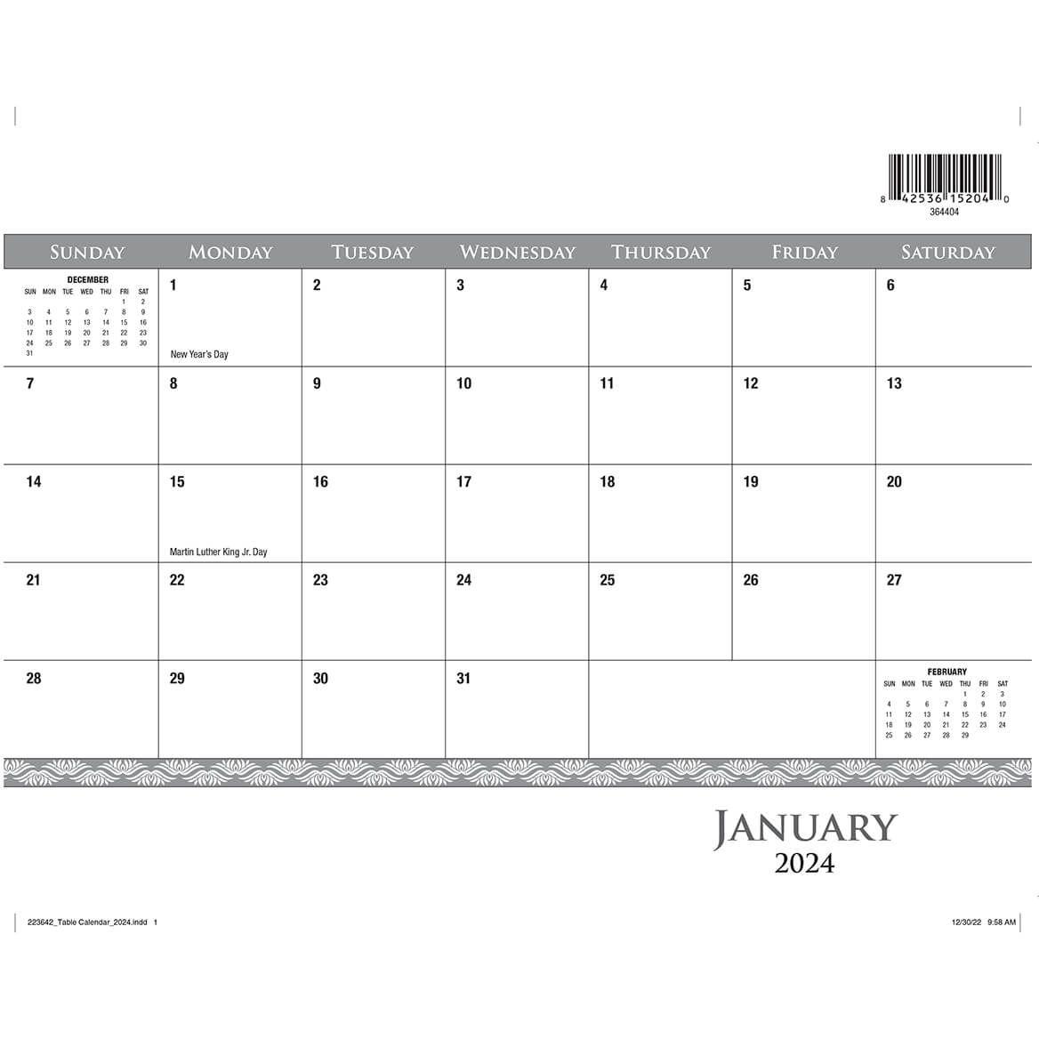 Desk Pad Calendar Refill 2022-364404