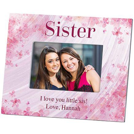 Personalized Sister Flowers 'a Flutter Photo Frame-364636