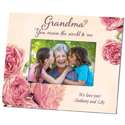 Personalized Grandma's English Rose Photo Frame-364645