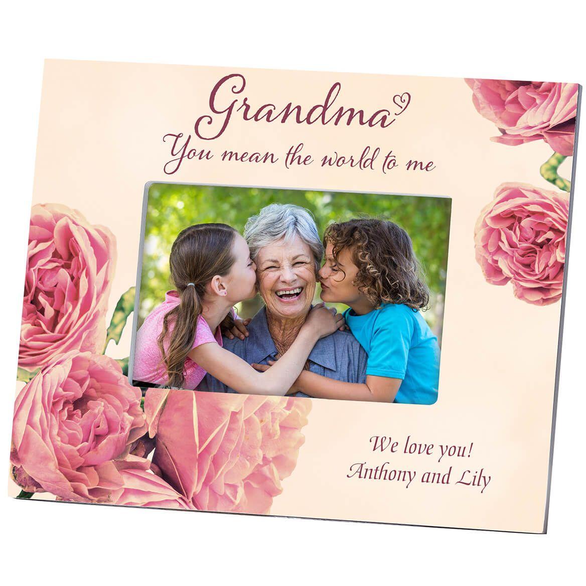 Personalized Grandma English Rose Frame-364645