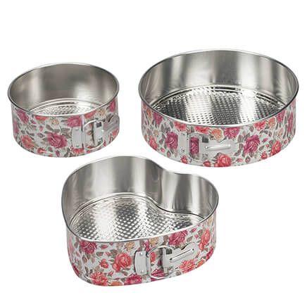 Vintage Floral Spring Release Bakeware, Set of 3-364665
