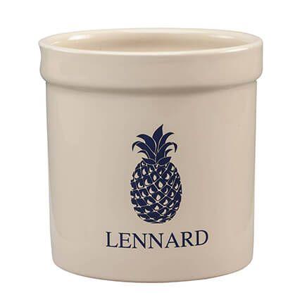 Personalized Blue Pineapple Ceramic Crock, 2 qt.-364700
