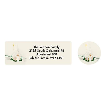 Personalized Satin Chapel Address Labels & Seals 20-364708