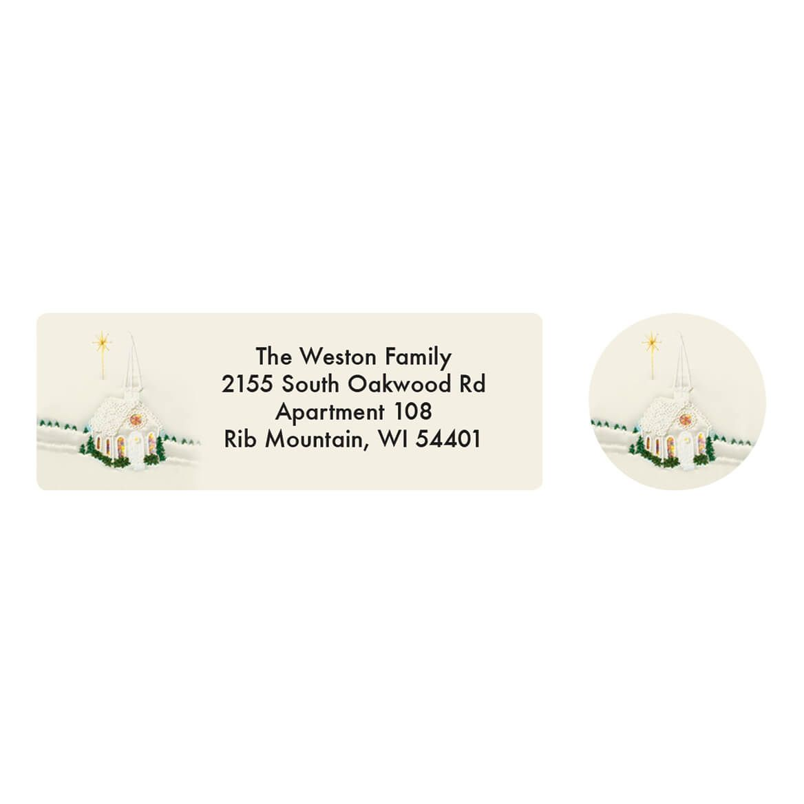 Personalized Satin Chapel Address Labels & Envelope Seals 20-364708