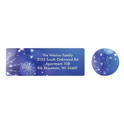 Personalized Winter Snow globe Address Labels & Seals 20-364720