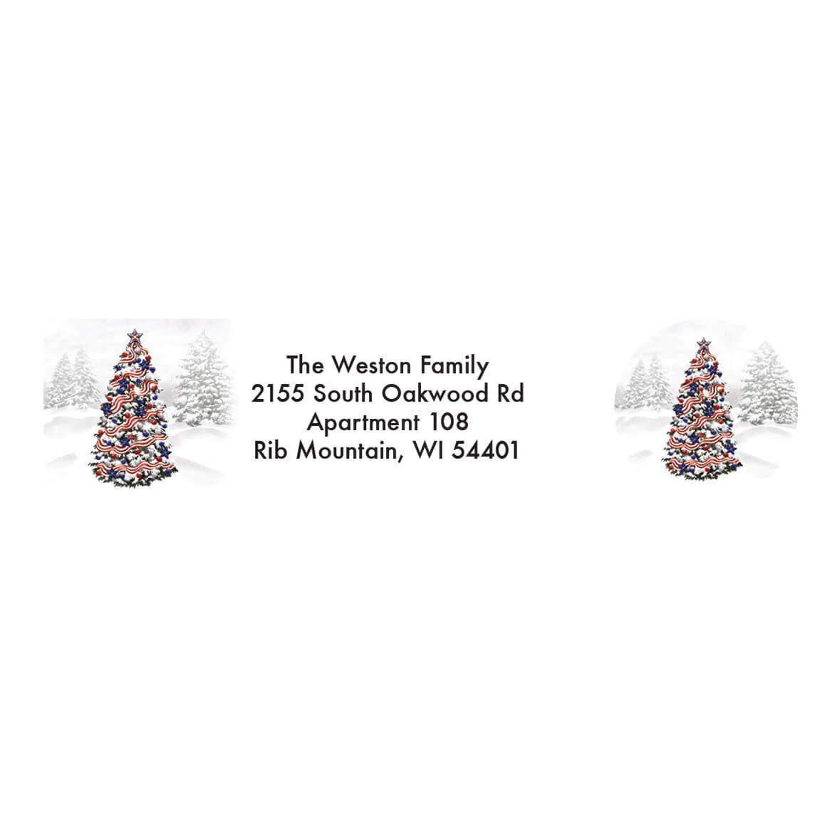 Personalized Patriotic Tree Address Labels & Envelope Seals 20-364738