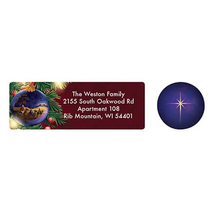 Personalized Nativity Ornament Address Labels & Seals 20-364742