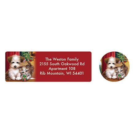 Personalized Puppy and Kitten Address Labels & Seals 20-364748
