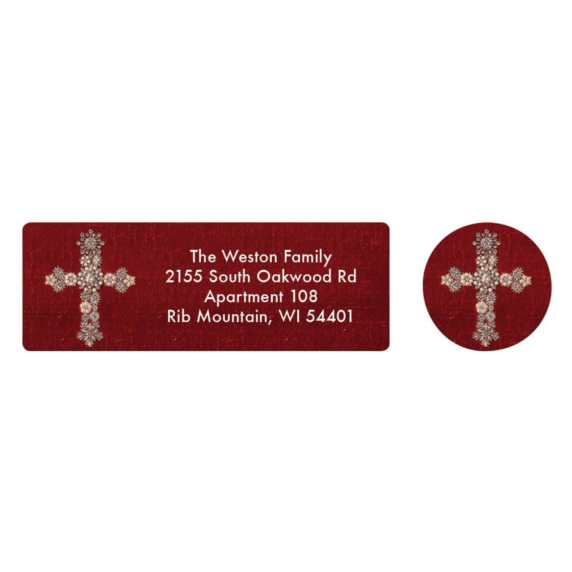 Personalized Jeweled Cross Collage Address Labels & Seals 20-364769