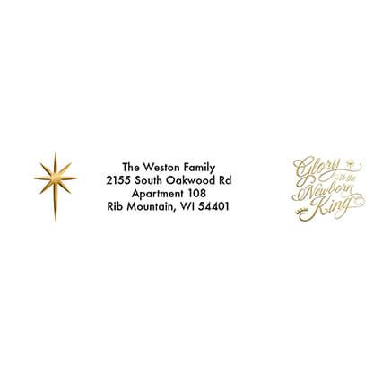 Personalized God's Love Christmas Address Labels & Seals 20-364790