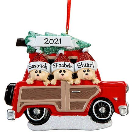 Personalized Woody Wagon Family Ornament-364876