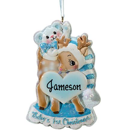 Personalized Baby's First Christmas Deer Ornament-364890