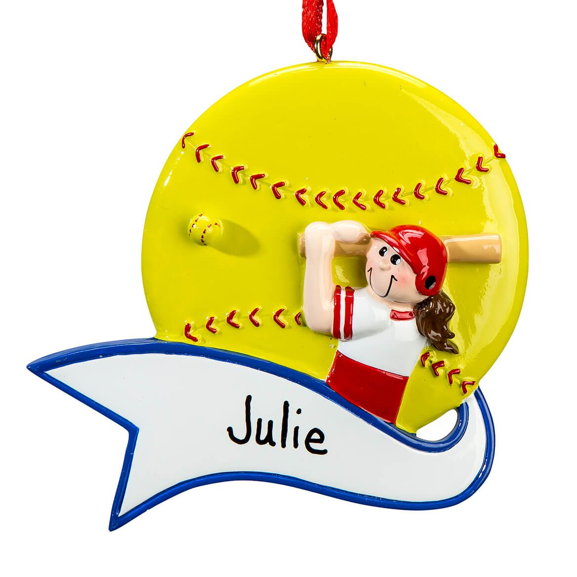 Personalized Softball Ornament-364919