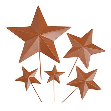 Rustic Barn Star Garden Stakes, Set of 5-365029