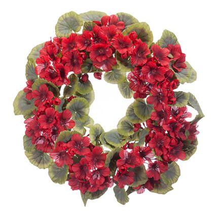 """14"""" Geranium Wreath by Oakridge Outdoor™-365030"""