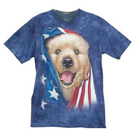 Patriotic Golden Pup T- Shirt-365367