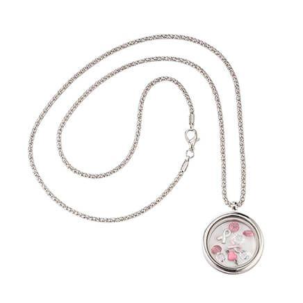 Breast Cancer Awareness Floating Charm Locket-365568