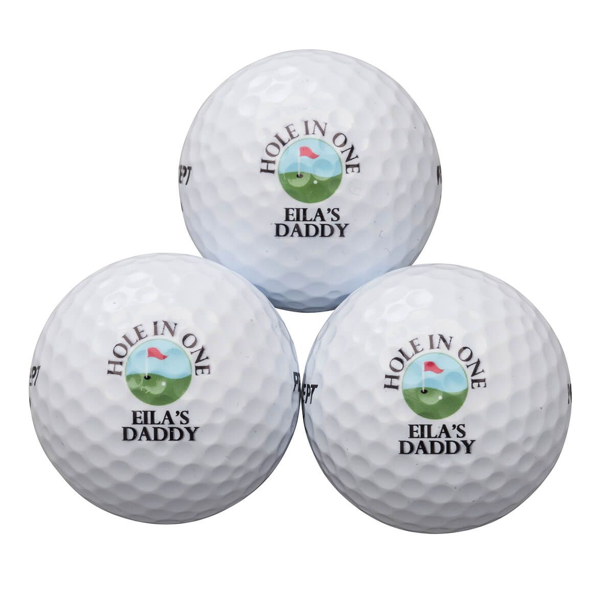 Personalized Precept® 3 Golf Balls Sleeve-365573