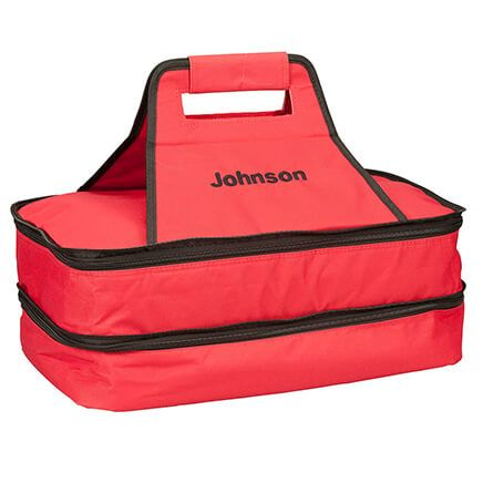 Personalized Double Decker Insulated Food Travel Tote-365603