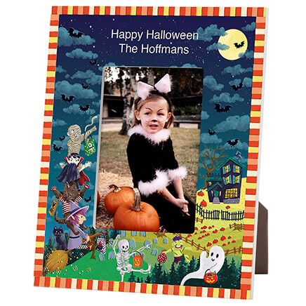 Personalized Haunted Party Halloween Photo Frame-365634
