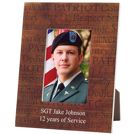 Personalized Call of Duty Patriotic Wood Photo Frame-365637