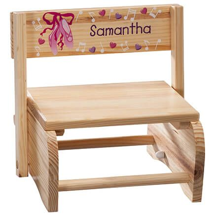 Personalized Children's Ballet Step Stool-365665