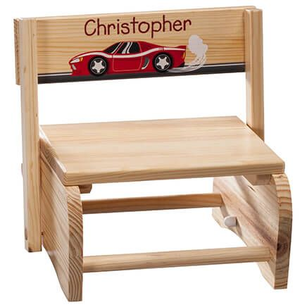Personalized Children's Racecar Step Stool-365669