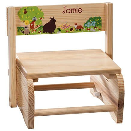 Personalized Children's Woodland Animals Step Stool-365671