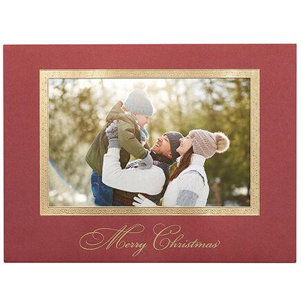 Traditional Merry Christmas Photo Christmas Cards, Set of 18-365779