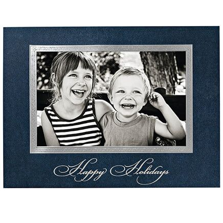 Traditional Happy Holidays Photo Christmas Cards, Set of 18-365781