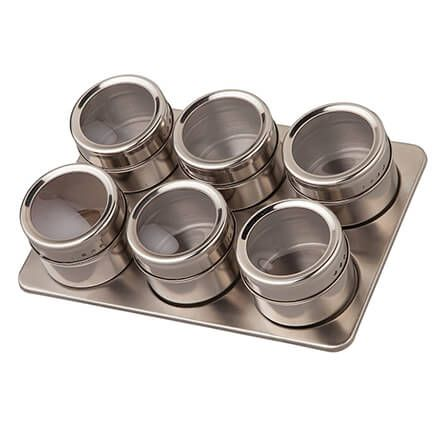 Home Marketplace 7 Pc Stainless Magnetic Spice Rack-365916