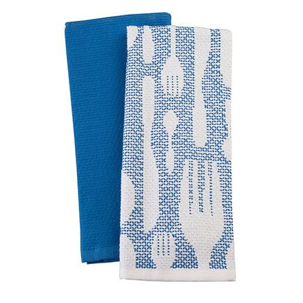 William Roberts Set of 2 Cutlery Kitchen Towels-365923