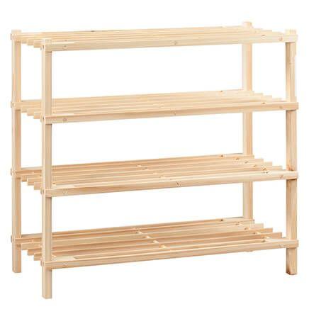 Wooden Shoe Rack by LivingSURE™-366046