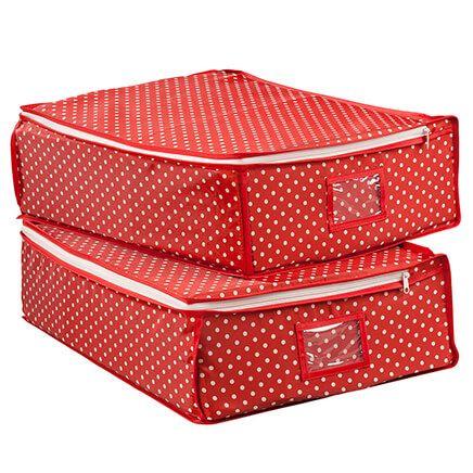Fabric Zipper Storage Bags, 2-Pack by LivingSURE™-366047