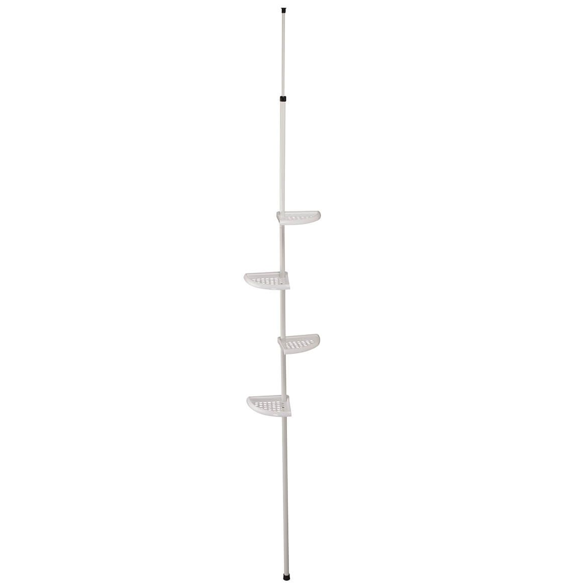 4-Tier Plastic Tension Pole Shelf by LivingSURE™-366049