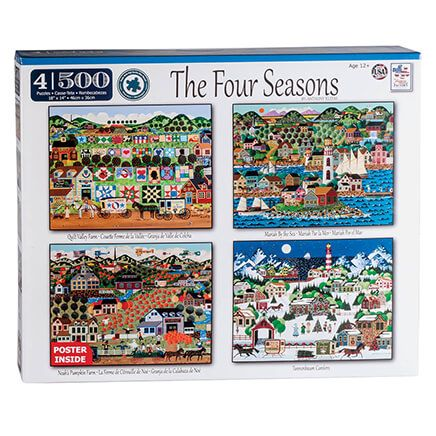 4-in-1 The Four Seasons Puzzle Set, 500 pieces each-366330