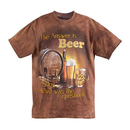 The Answer is Beer T Shirt-366350