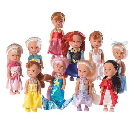 "4"" Little Princess Dolls, Set of 10-366388"
