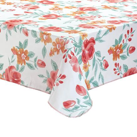 Watercolor Floral Vinyl Tablecover by Homestyle Kitchen-366972