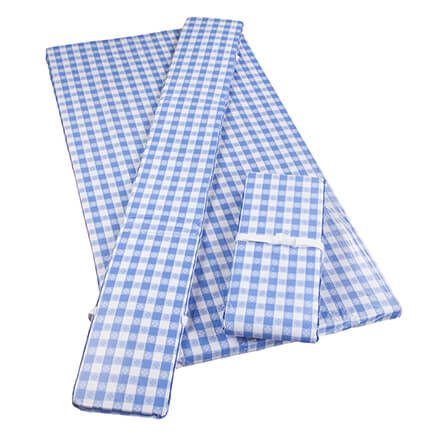Deluxe Picnic Table Cover w/ Cushions by HSK Cornflower Blue-366978