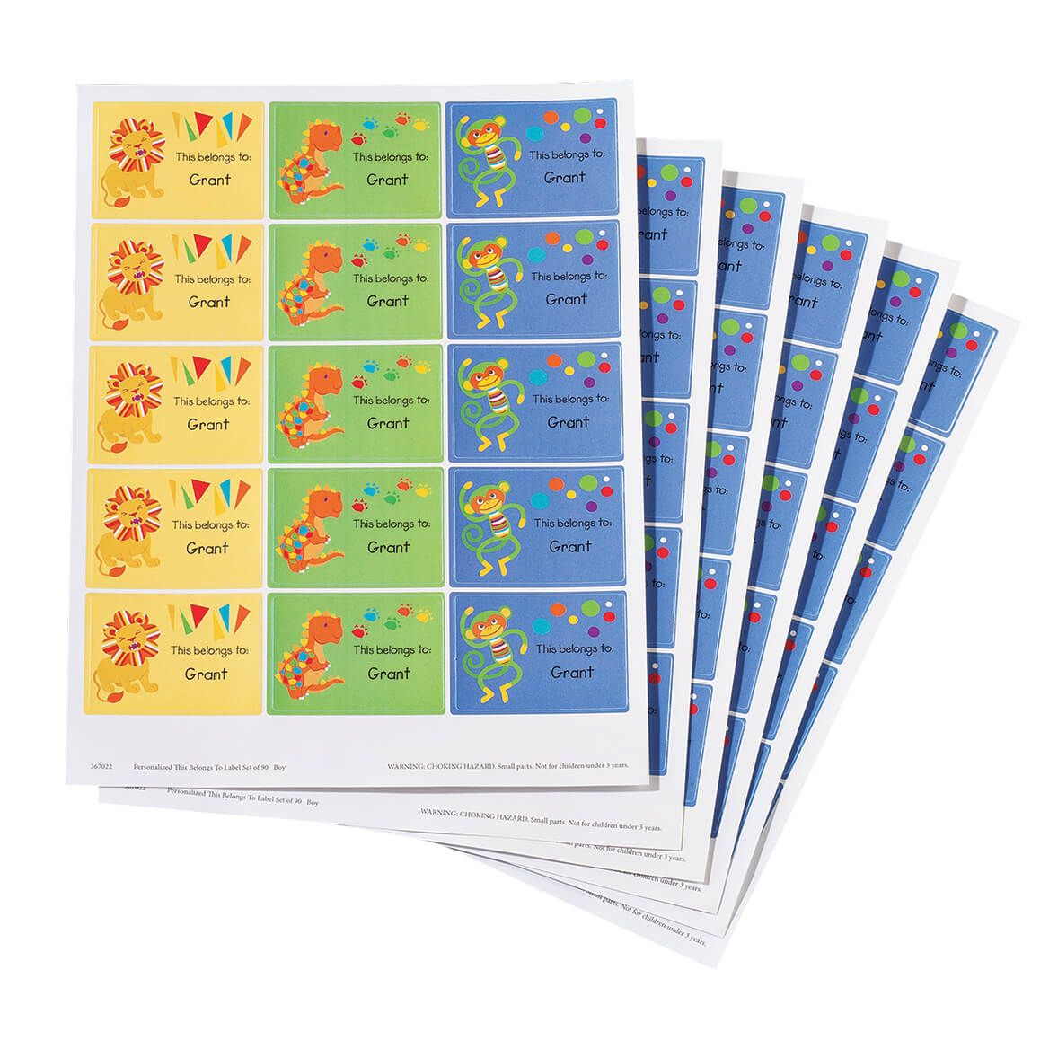 """Personalized """"This Belongs To:"""" Labels, Set of 90-367022"""