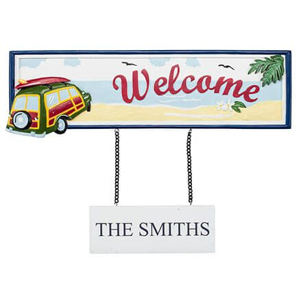 Personalized Welcome Beach Sign-367023