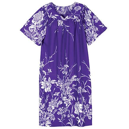 Purple & White Floral Poly Lounger by Sawyer Creek-367114