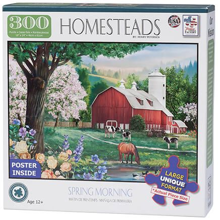 Homesteads Spring Morning Puzzle, 300 pieces-367124