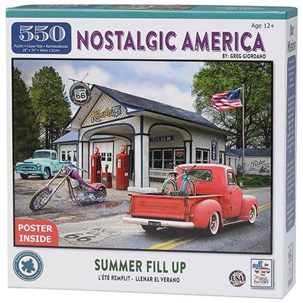 Nostalgic America Summer Fill Up Puzzle 550 Pc-367126