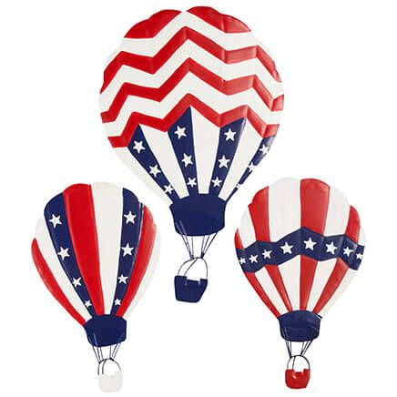Patriotic Hot Air Balloons, Set of 3 by Fox River Creations™-367145