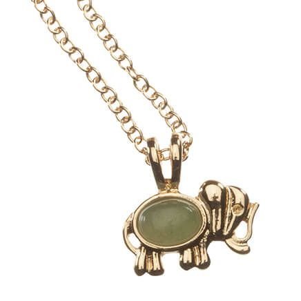 Good Luck Elephant Necklace with Magnetic Clasp-367327