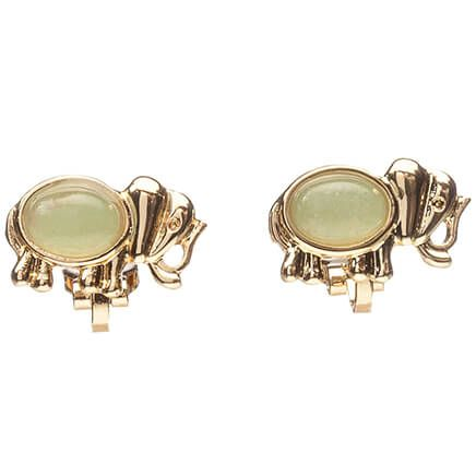Good Luck Elephant Clip Earrings-367328