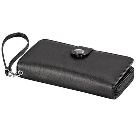 B.Amici™ Nancy RFID Leather Wallet with Wristlet-367448