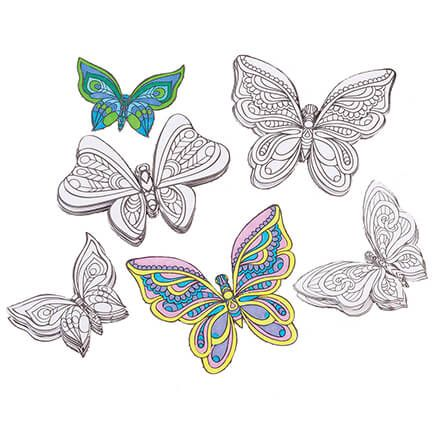 3D Butterfly Wall Coloring Décor-367462